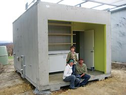 The first re-Growth Pod on site in Kinglake, with owners Stoney and Jacqueline Black.