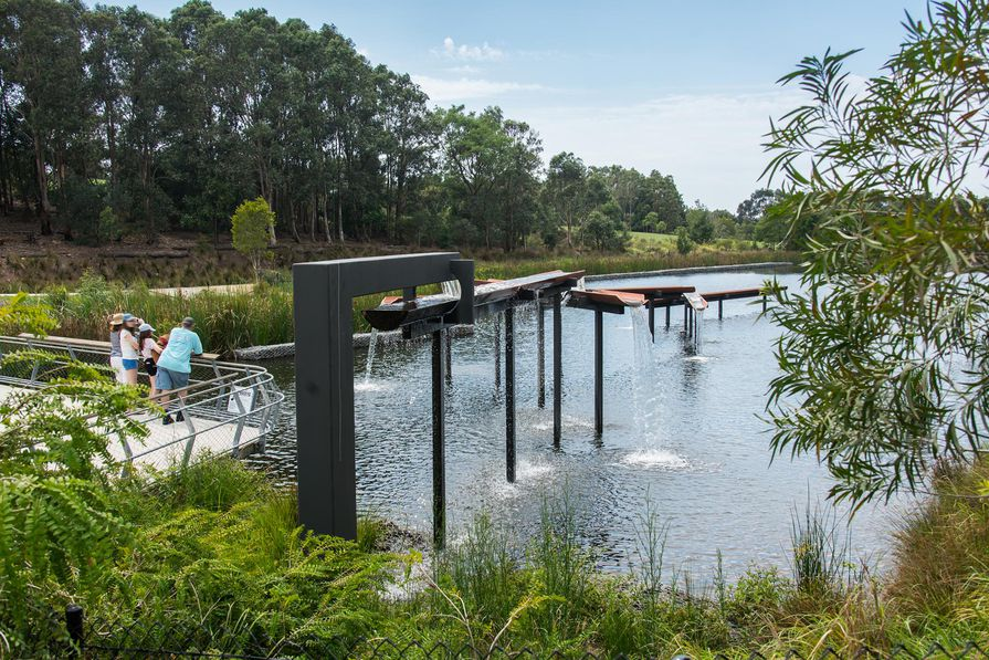Sydney Park Water Re-Use Project by Turf Design Studio and Environmental Partnership with Alluvium, Turpin and Crawford Studio and Dragonfly Environmental.