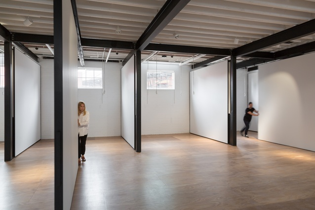 Artists studios in the refurbished former police stables by Kerstin Thompson Architects.