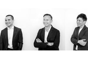 Directors of Bangkok-based landscape architecture practice Shma (left to right): Namchai Saensupha, Prapan Napawongdee and Yossapon Boonsom.