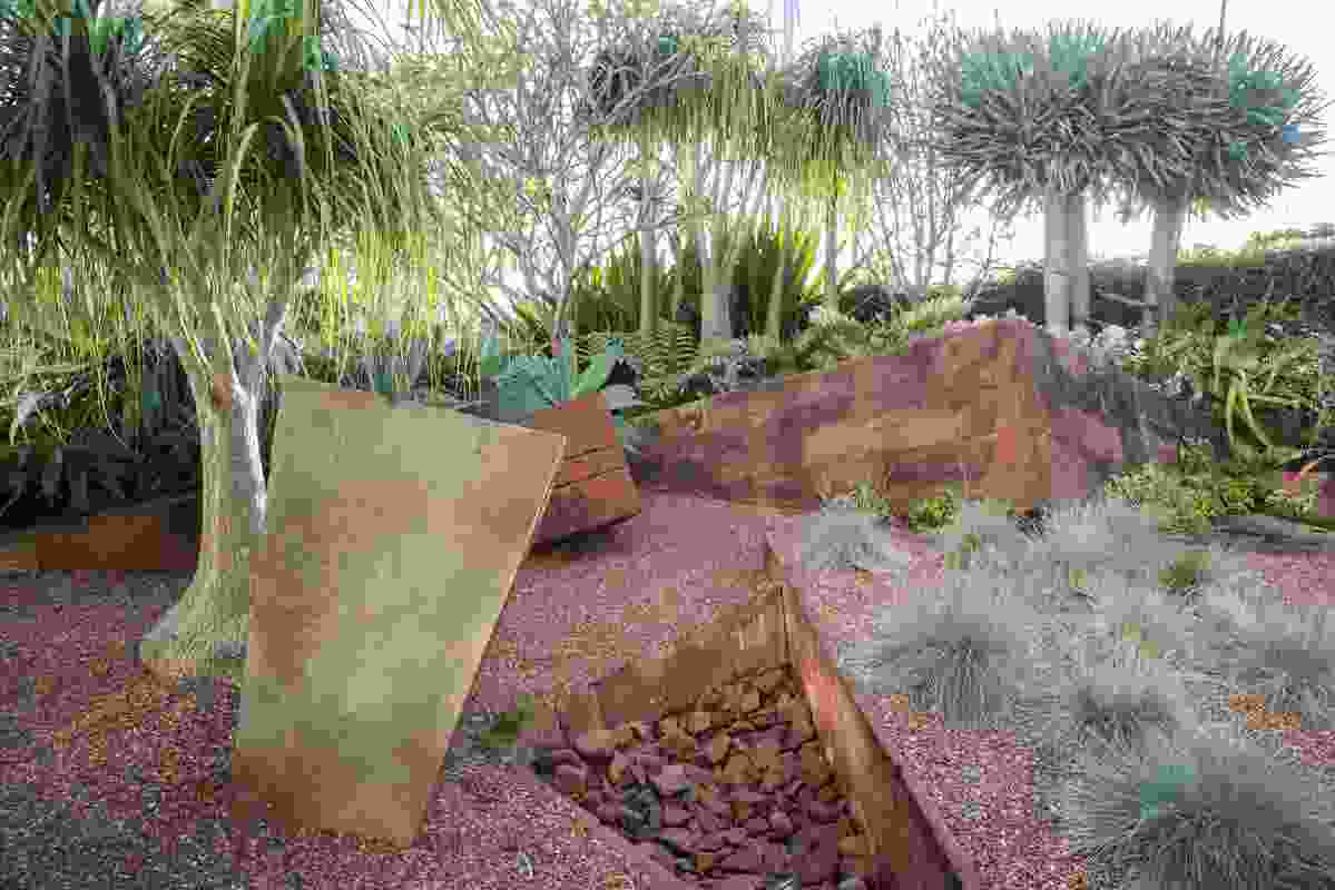 Red Garden designed by Vladimir Sitta, using central Australian stone.
