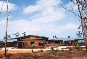 The Garma Cultural Knowledge Centre in North East Arnhem Land (2014), built on the land of the Yolngu people and designed by Build Up Design, is an example of a project that combines Indigenous customs with introduced ways to negotiate a creative synthesis.