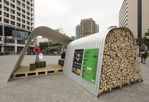 A shelter by Jackson Teece at ESE Brisbane 2012.