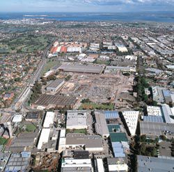 Arial view of the site.