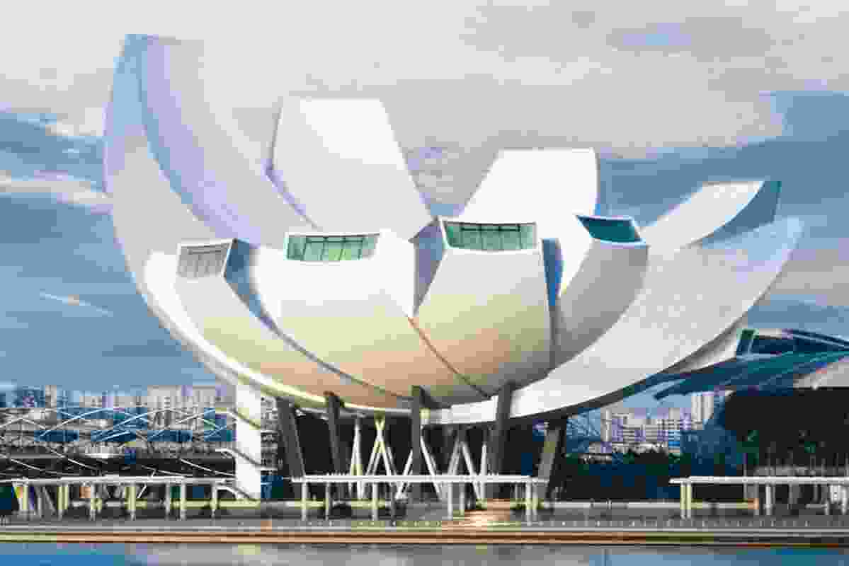 The Marina Bay Sands ArtScience Museum by Safdie Architects.