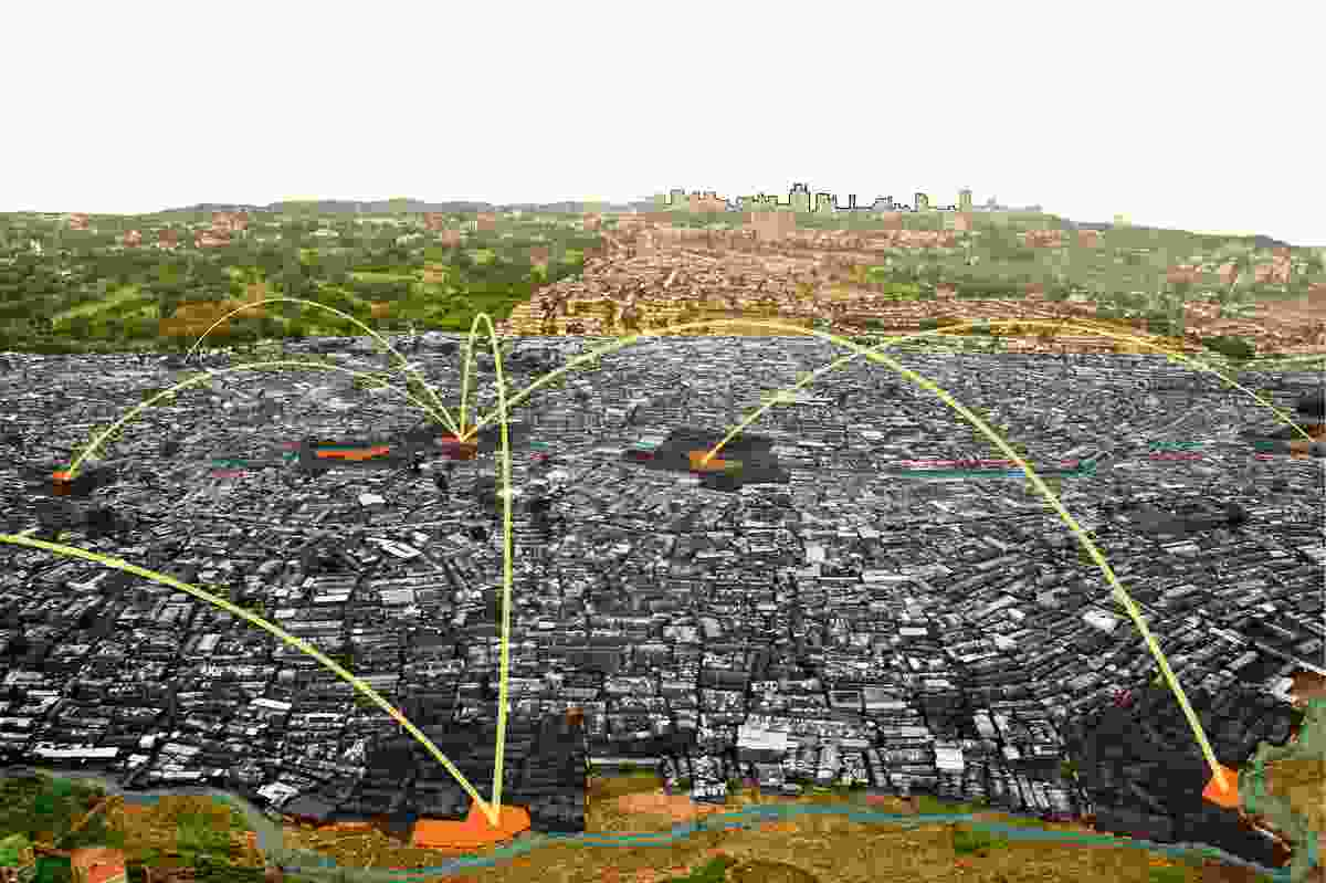 The network of Kibera Public Space Projects.