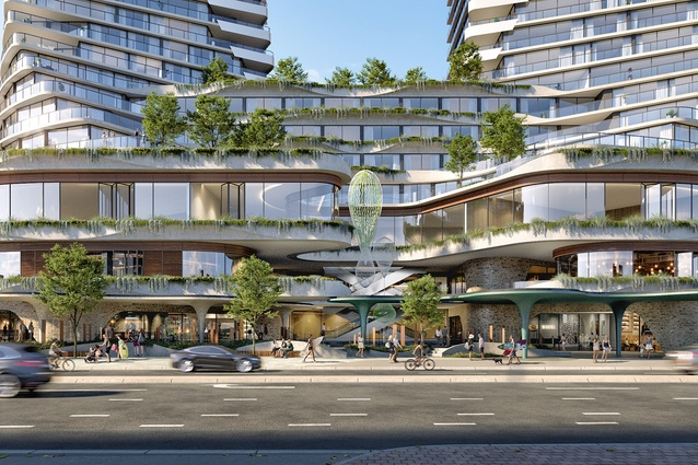The Scarborough Beach towers designed by Hillam Architects.