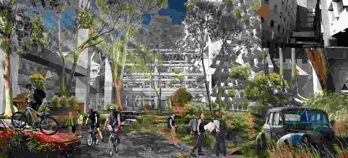 """Invasion of Nature"" at the Royal Adelaide Hospital site by Vu Ngoc Hung."