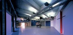The main space of the chapel, designed to be flexible, so as to accommodate a wide range of activity.