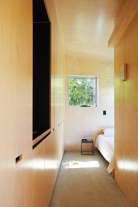 Plywood linings create a warm interior.