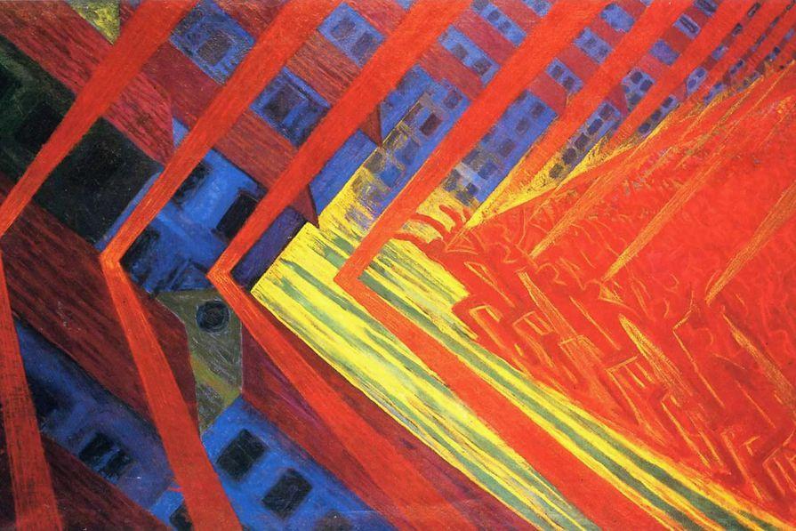 Luigi Russolo, The Revolt, oil on canvas (1912)