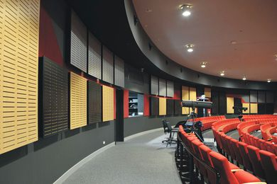 CBM Sustainable Group specified Supawood's Supacoustic NCK wall panels for the new performing arts theatre.