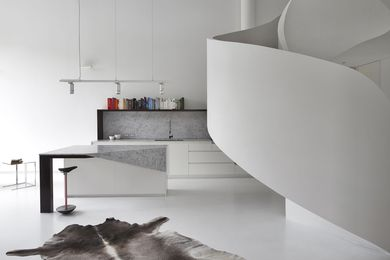 2014 Interior Design Excellence & Innovation Award: Loft Apartment, West Melbourne by Adrian Amore Architects.