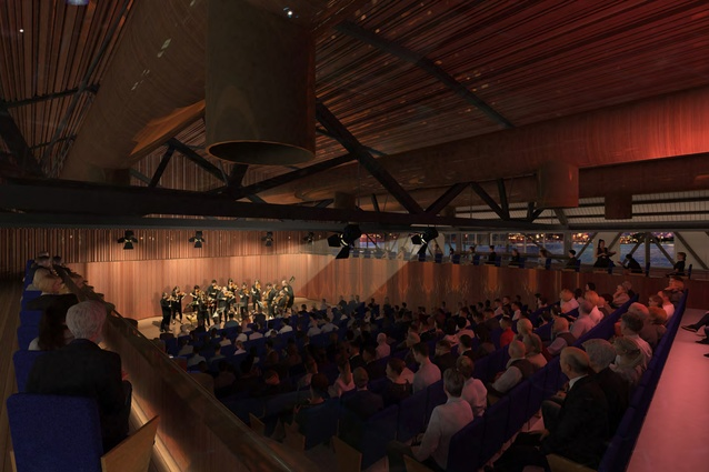 Australian Chamber Orchestra Auditorium of the the proposed Walsh Bay Arts Precinct redevelopment by Tonkin Zulaikha Greer.