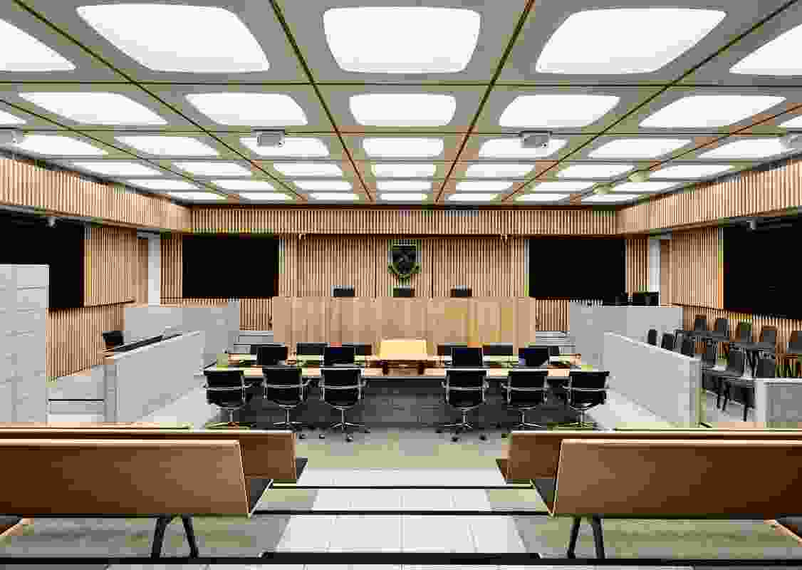 Moot Court Learning Precinct, Monash Faculty of Law by Jackson Clements Burrows Architects.