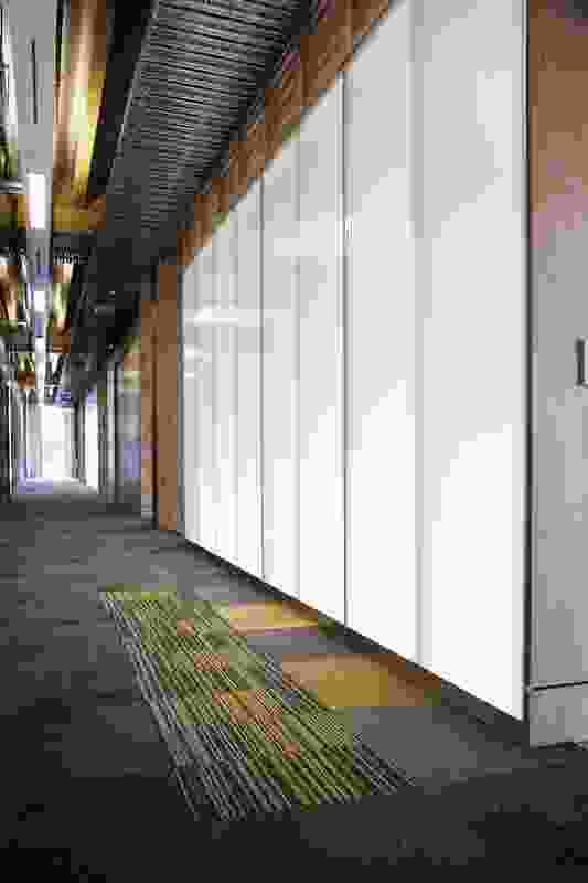 The main circulation corridor.