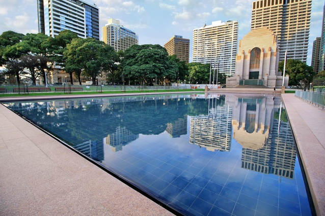 Hyde Park Pool of Reflection upgrade by Turf Design Studio and Environmental Partnership collaboration (TDEP).