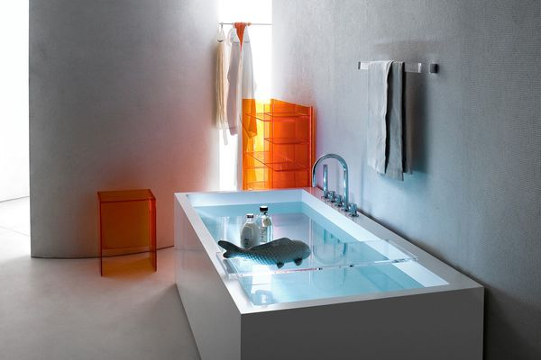 Max-Beam stool / small table and Rail towel holder.