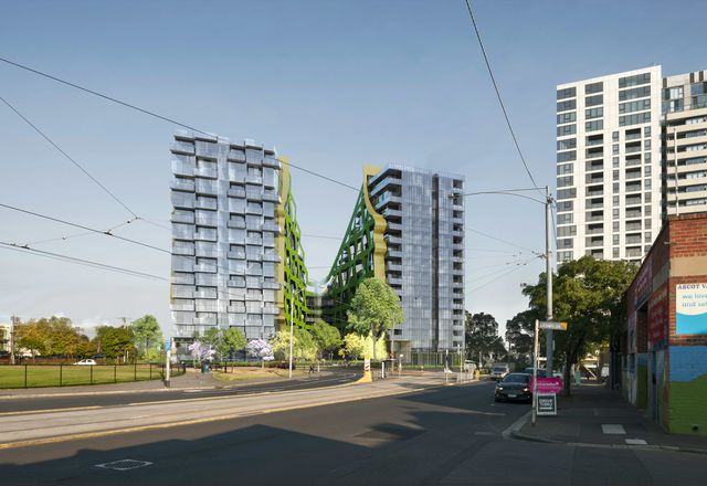 The apartment building at 550 Epsom Road, Flemington by ARM Architecture.