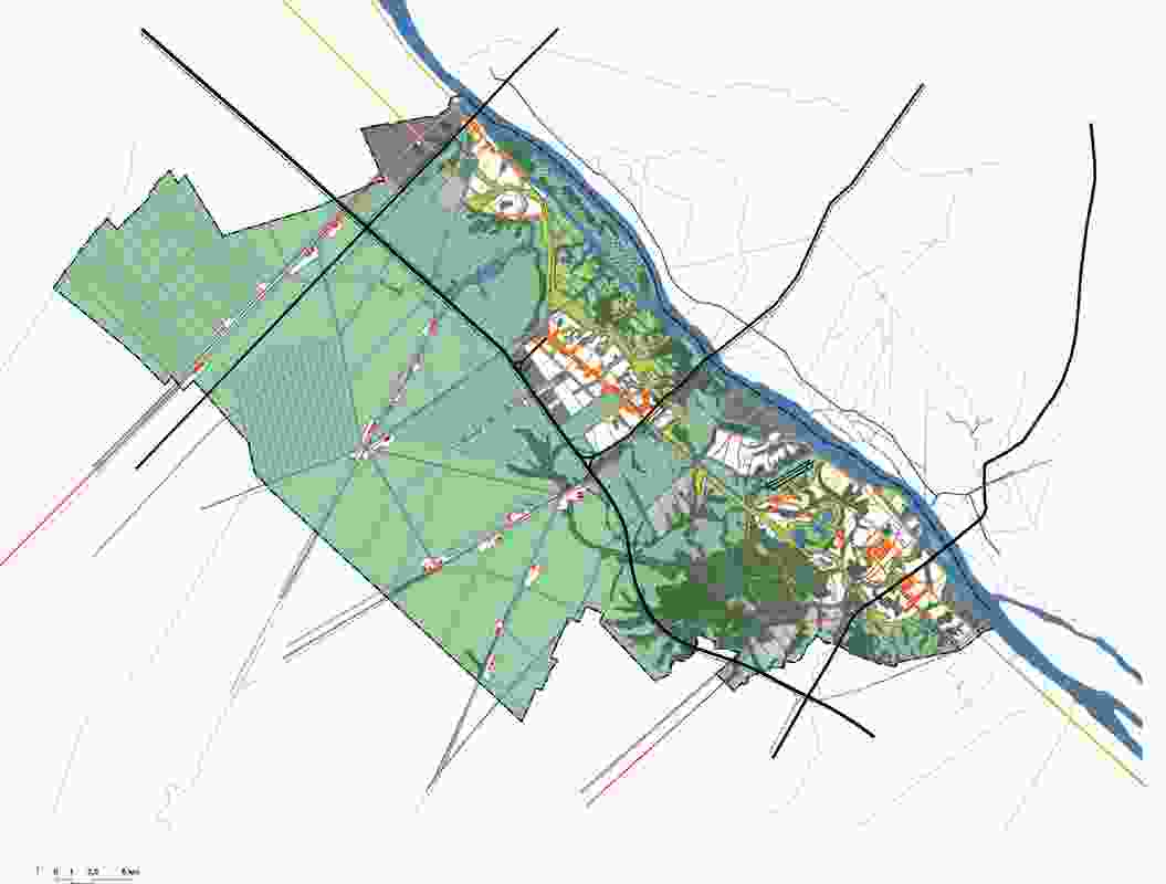 The Cantho Master Plan, prepared by RUA, WIT and Latitude in collaboration with the Southern Institute of Strategic Planning, (approved 2013) proposes high, dry safe urban islands in a sea of rice and orchards.