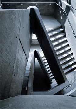 Looking down the stair.