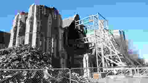 Christchurch cathedral after the earthquake.