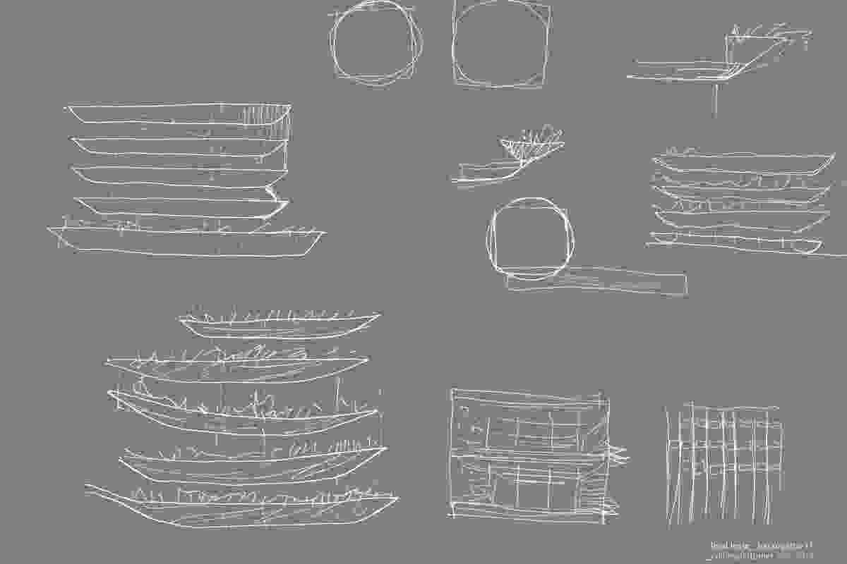 Design sketches by Collins and Turner.