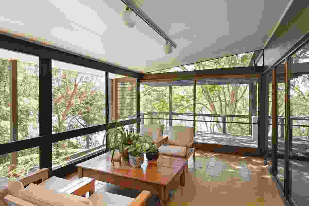 """Offering views framed by a fringe of pergola, the """"lanai"""" – a light-filled, flyscreened terrace – is a """"magical space."""""""
