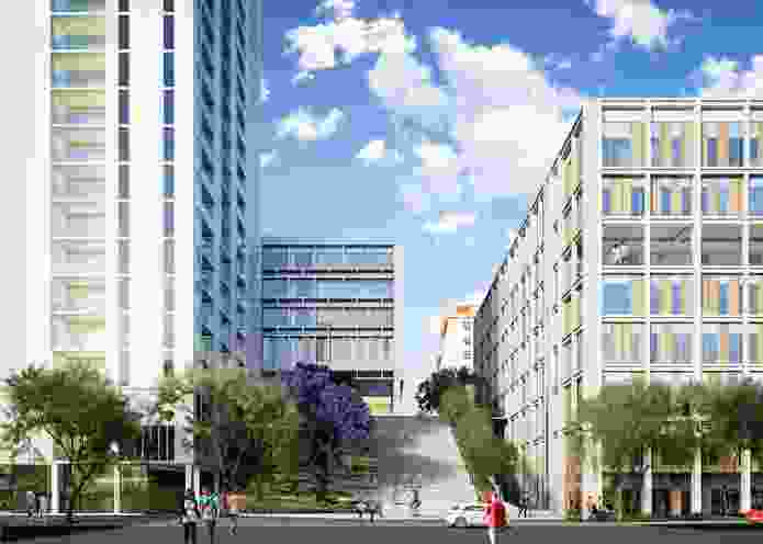 "Herston Quarter will include a set of wide stairs, dubbed the ""Spanish Steps,"" as a key element of its public spaces."