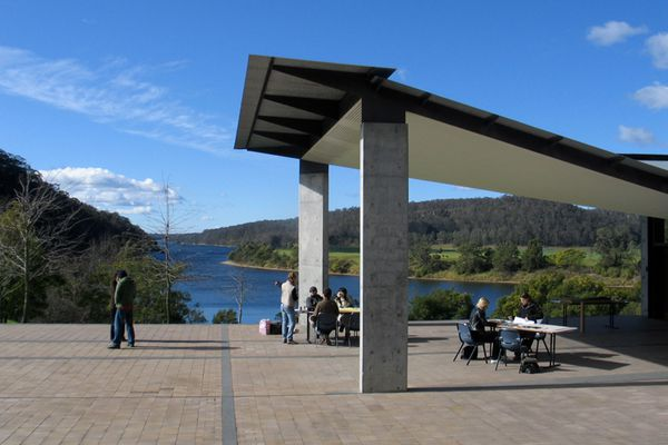 Venue for the 2014 Glenn Murcutt International Architecture Masterclass, Riversdale on the banks of the Shoalhaven River.