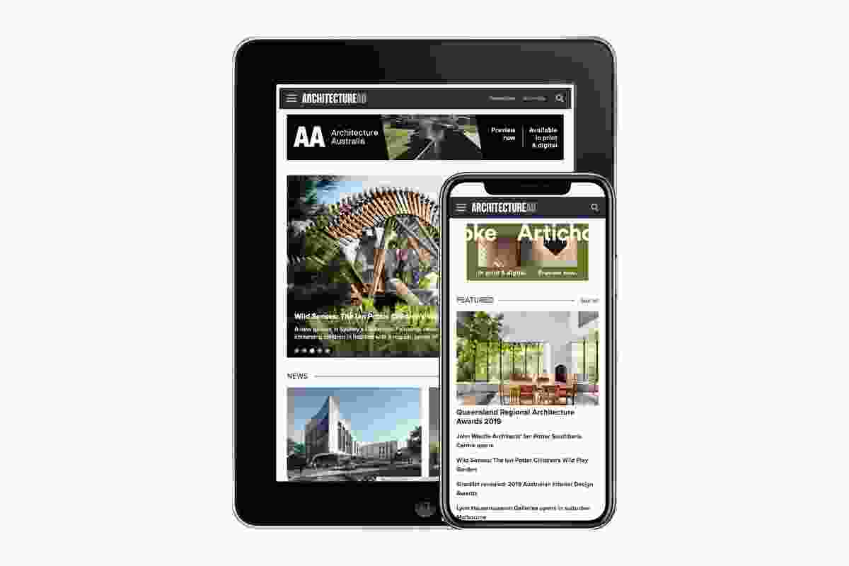 The new-look ArchitectureAU website is responsive across desktop, tablet and mobile devices.