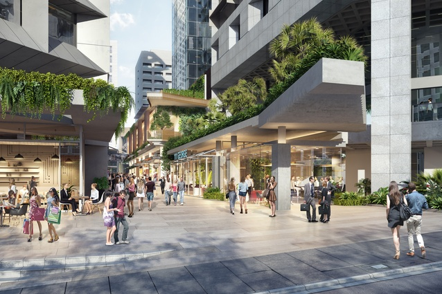 The proposed tower development for QIC by Bureau Proberts and Architectus will have a new laneway between the buildings