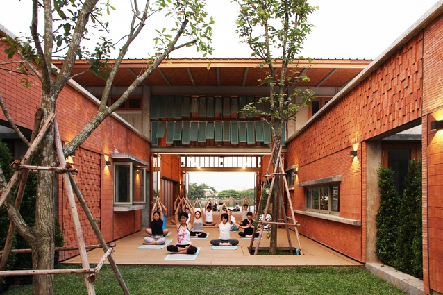 SalaAreeya yoga court by Chat Architects.