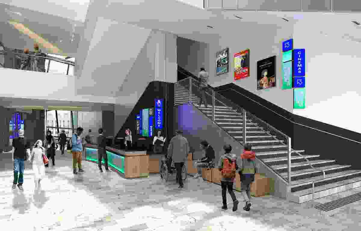 ACMI entrance, Level 1, via Fed Square.