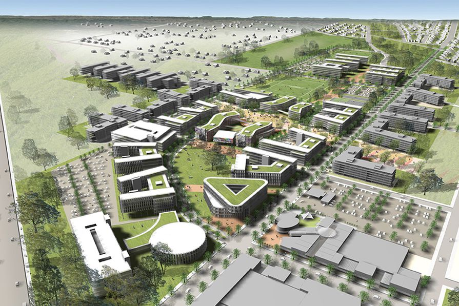 A proposed precinct of Sydney Science Park designed by Celestino in conjunction with Urbis and Francis-Jones Morehen Thorp.