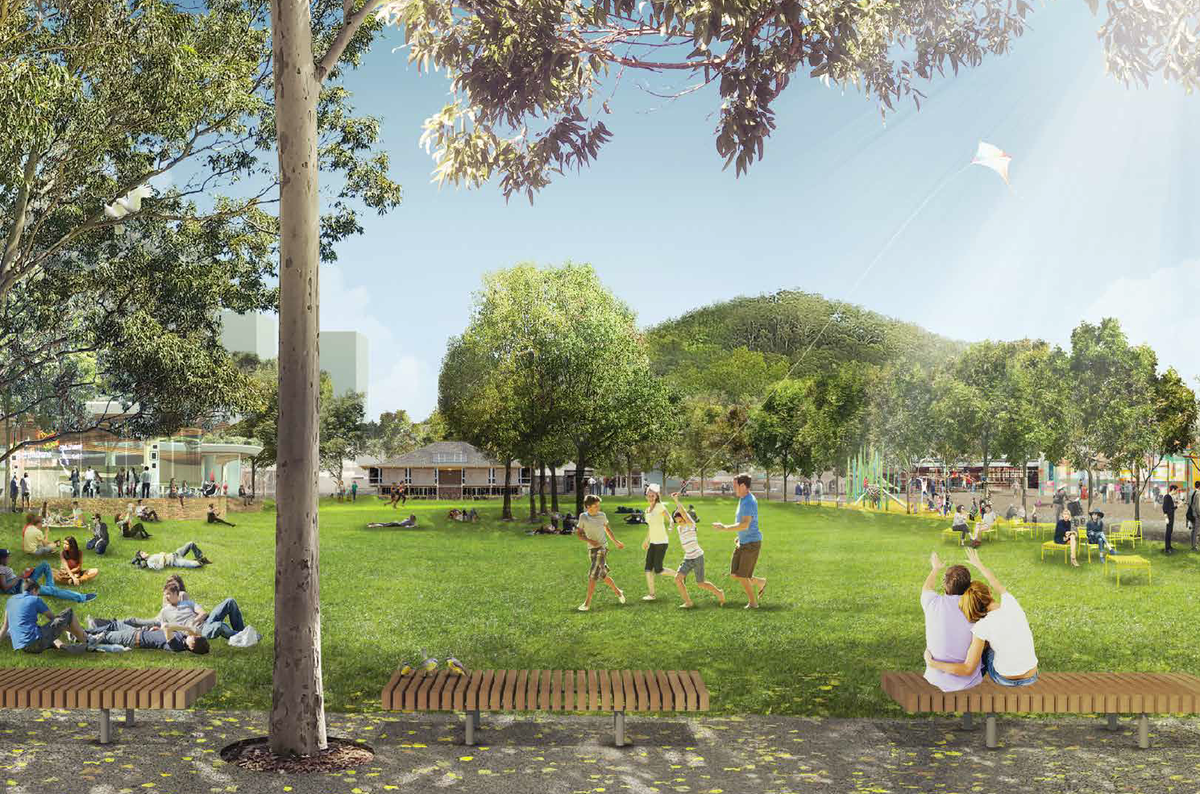 A reimagined Kibble Park, by GANSW in partnership with CHROFI, Tyrrellstudio and HillDPA.