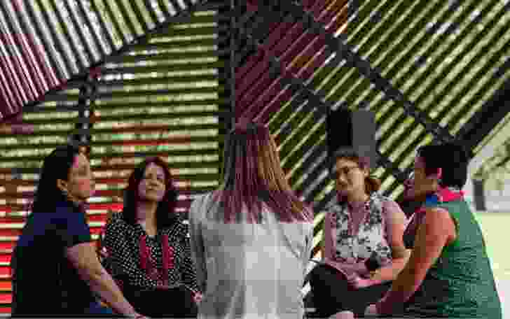 The 2018/19 Blakitecture series at MPavilion in Melbourne, curated by Sarah Lynn Rees, included a forum titled Women's Business.