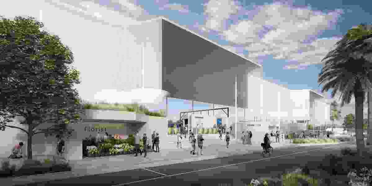 The original competition-winning design for Frankston Railway Station by Genton Architecture.