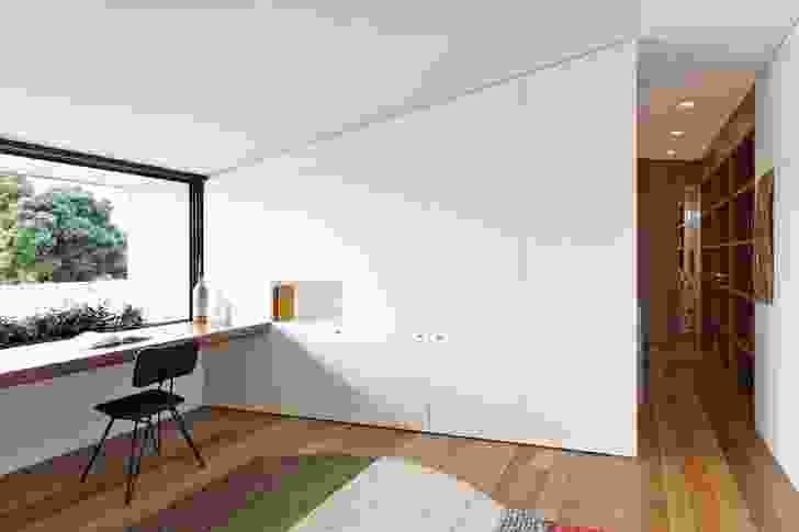 House 1's study space offers views of Sydney Harbour Bridge.