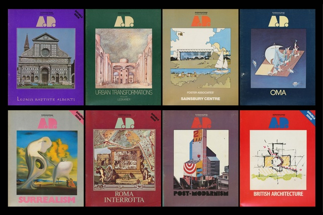 <em>Architectural Design</em> covers, 1977–79.