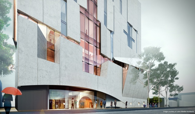 John wardle architects wins melbourne conservatorium of music the facade of the melbourne conservatorium of music designed by john wardle architects will lift tilt and hinge open to allow the public glimpses into the malvernweather Images