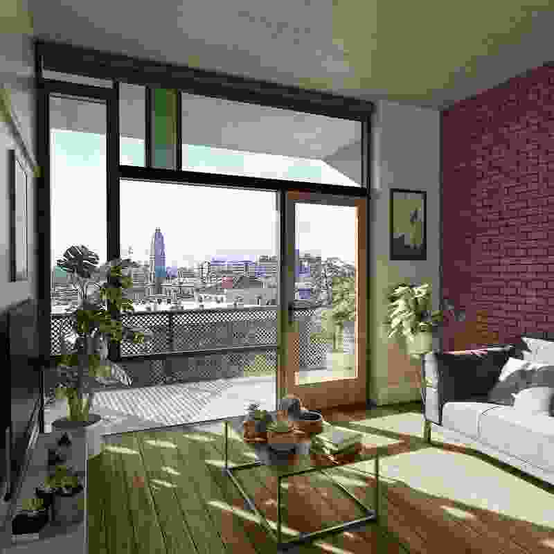 Interior of the proposed Hawke and King apartments by Six Degrees.