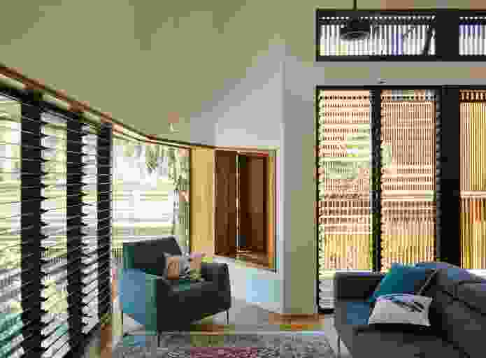 A snug on the ground floor provides an alternative to the primary living area upstairs.