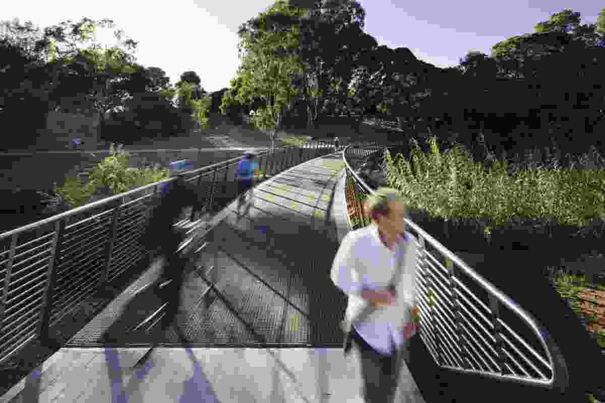 The bridge facilitates passage between north adelaide and the city.