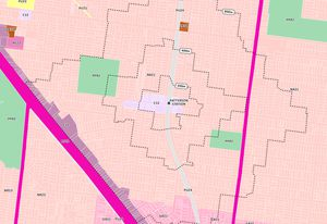 Existing zoning around Patterson Station in the Melbourne suburb of Bentleigh.