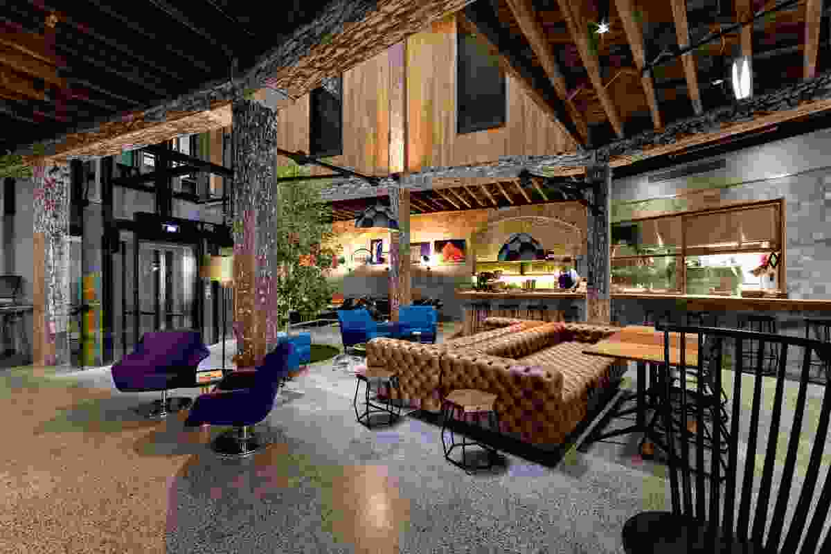 Heritage structure revealed in 1888 Hotel's bar and eatery.