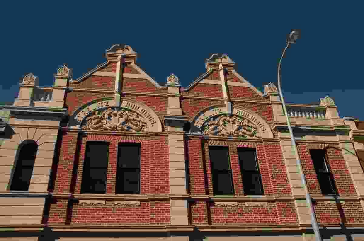 Strelitz buildings designed by J. F. Allen, 1897.