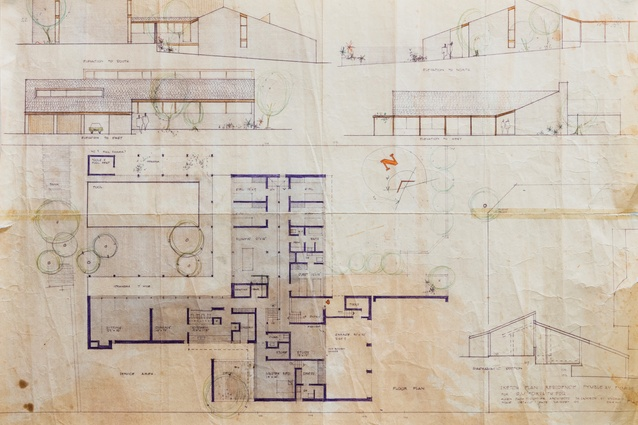 A sketch plan of Pymble House by Allen Jack and Cottier, dated 24 September 1969.