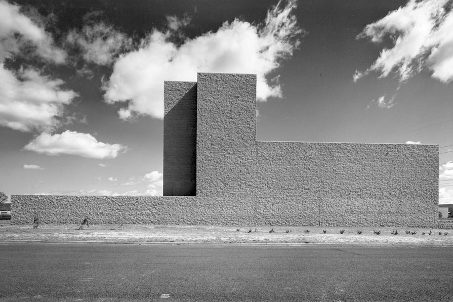 The north elevation of the former Torin factory building by Marcel Breuer, 1976.