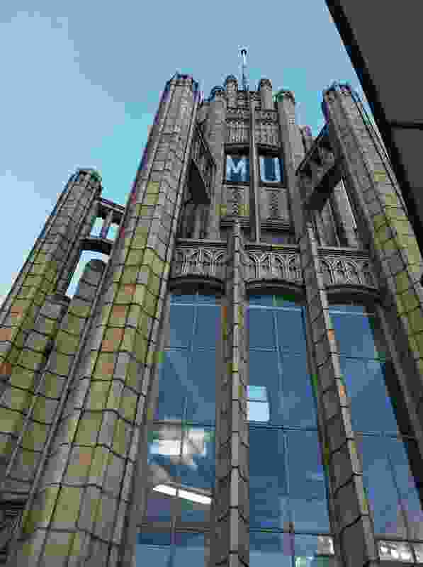 The tower of Marcus Barlow's 1932 Manchester Unity Building.